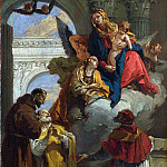 The Virgin and Child appearing to a Group of Saints, Giovanni Domenico Tiepolo