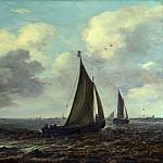 Imitator of Jan van Goyen – Sailing Vessels on a River in a Breeze, Part 3 National Gallery UK