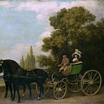 George Stubbs – A Gentleman driving a Lady in a Phaeton, Part 3 National Gallery UK