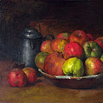 Still Life with Apples and a Pomegranate, Gustave Courbet
