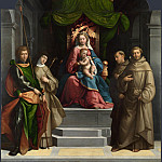 Garofalo – The Madonna and Child enthroned with Saints, Part 3 National Gallery UK