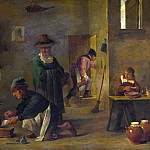 Imitator of David Teniers the Younger – A Doctor tending a Patients Foot in his Surgery, Part 3 National Gallery UK