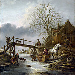 Isack van Ostade – A Winter Scene, Part 3 National Gallery UK