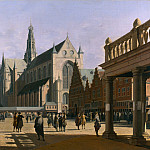 Part 3 National Gallery UK - Gerrit Berckheyde - The Market Place and the Grote Kerk at Haarlem
