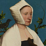 A Lady with a Squirrel and a Starling (), Hans The Younger Holbein
