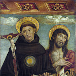 Saints Nicholas of Tolentino and John the Baptist, John Martin