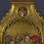 Giovanni dal Ponte – Saints Raphael and Tobias – Roundel above Right Panel, Part 3 National Gallery UK