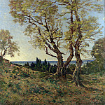 Henri-Joseph Harpignies – Olive Trees at Menton, Part 3 National Gallery UK