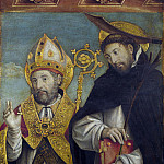 Part 3 National Gallery UK - Giovanni Martino Spanzotti - Saint Peter Martyr and a Bishop Saint (Saint Evasio)