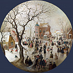 Hendrick Avercamp – A Winter Scene with Skaters near a Castle, Part 3 National Gallery UK