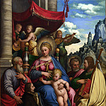 Part 3 National Gallery UK - Girolamo da Treviso - The Madonna and Child with Angels, Saints and a Donor