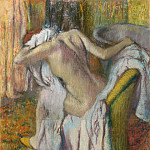 After the Bath, Woman drying herself, Edgar Degas
