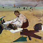 Part 3 National Gallery UK - Hilaire Germain-Edgar Degas - Beach Scene