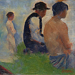 Georges Seurat – Study for Bathers at Asnieres, Part 3 National Gallery UK