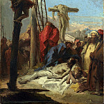 Giovanni Domenico Tiepolo – The Lamentation at the Foot of the Cross, Part 3 National Gallery UK
