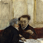 At the Cafe Chateaudun, Edgar Degas