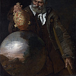 Italian – An Old Man holding a Pilgrim-Bottle, Part 3 National Gallery UK