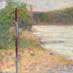 Part 3 National Gallery UK - Georges Seurat - A River Bank (The Seine at Asnieres)