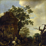 Isack van Ostade – The Outskirts of a Village, with a Horseman, Part 3 National Gallery UK