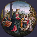 Italian, Florentine – The Holy Family with Angels, Part 3 National Gallery UK