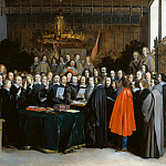 Gerard ter Borch – The Ratification of the Treaty of Munster, Part 3 National Gallery UK