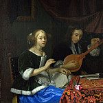 Godfried Schalcken – A Woman singing and a Man with a Cittern, Part 3 National Gallery UK