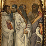 Giovanni dal Ponte – Saints Bernard, Scholastica, Benedict and John, Part 3 National Gallery UK
