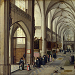 Part 3 National Gallery UK - Hendrick van Steenwyck the Younger and Jan Brueghel the Elder - The Interior of a Gothic Church looking East