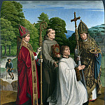 Gerard David – Canon Bernardijn Salviati and Three Saints, Part 3 National Gallery UK
