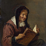 Imitator of David Teniers the Younger – An Old Woman Reading, Part 3 National Gallery UK