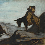 Honore-Victorin Daumier – Don Quixote and Sancho Panza, Part 3 National Gallery UK