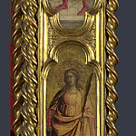 Giovanni dal Ponte – Saints Nicholas, Damian and Margaret – Right Pilaster, Part 3 National Gallery UK