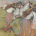 Hilaire Germain-Edgar Degas – Russian Dancers, Part 3 National Gallery UK