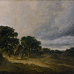 Georges Michel – Landscape with Trees, Buildings and a Road, Part 3 National Gallery UK