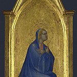 Giovanni da Milano – The Virgin – Left Pinnacle Panel, Part 3 National Gallery UK