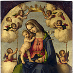 Giovanni Battista da Faenza – The Virgin and Child in Glory, Part 3 National Gallery UK