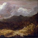 Imitator of Hercules Segers – A Mountainous Landscape, Part 3 National Gallery UK