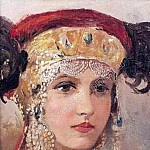 Young woman in a headdress, Sergey Sergeyevich Solomko