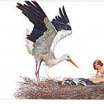 Blessed be the home where the stork had built her nest, Sergey Sergeyevich Solomko