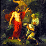 Jupiter and Mercury, in the form of visiting pilgrims Philemon and Baucis. 1802. H., m. 124. 7h101. 8. Riga, Orest Adamovich Kiprensky