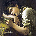 Young gardener. 1817 Oil on canvas. 62h49, 5 RM, Orest Adamovich Kiprensky