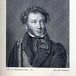 A. Pushkin. NI Utkin from the original OA Kiprensky, Orest Adamovich Kiprensky