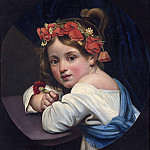Orest Adamovich Kiprensky - girl in poppy wreath with a carnation in his hand (Mariuchcha). 1819. 42. 5h40. 9. GTG. JPG