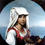 Orest Adamovich Kiprensky - Neapolitan girl with the fruits of H. 1831, m. Chisinau