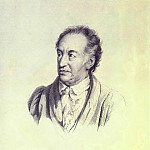 Portrait of the Artist-In. Goethe. 1823 Lithograph with Fig. Kiprensky. GMII, Orest Adamovich Kiprensky