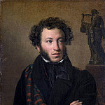 Portrait of the poet Alexander Pushkin. 1827 H., M., 63h54 TG, Orest Adamovich Kiprensky