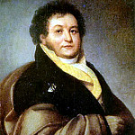 Orest Adamovich Kiprensky - Portrait P. Litta (P-t gr. VV Musina - Pushkin - Bruce q). 1813 Oil on canvas, 74h62 MT, M.