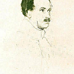 Orest Adamovich Kiprensky - Portrait MF Orlov. 1823 IT. K., ink, Sang. , B. 25. 2х20 TG