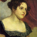 Portrait of Anna Feodorovna Furman. Until 1816. Oil on canvas. 42, 5h33, 2. GRM, Orest Adamovich Kiprensky