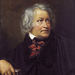 Orest Adamovich Kiprensky - Portrait of the Danish sculptor Bertel Thorvaldsen. 1831 Oil on canvas. 79, 5h65 RM
